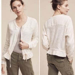Anthropologie Scenic Route Cream Jacket  Small